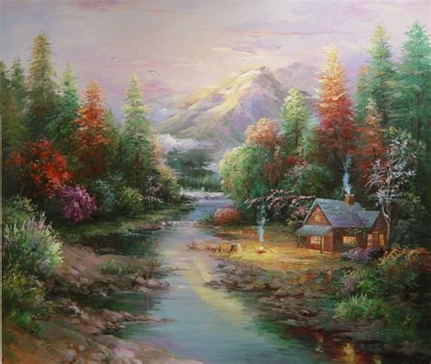 beautiful painting beautiful landscape paintings