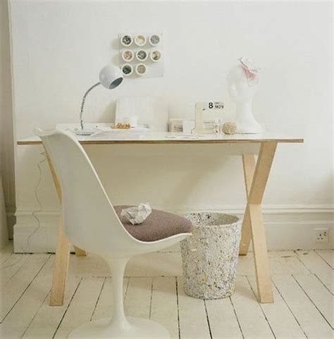 Simple Desk White Home Office Furniture Workspaces Simple White Desk