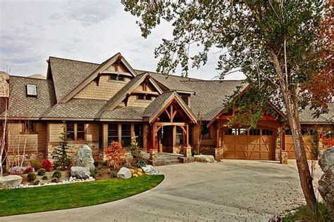 northwest timber style luxury hwbdo68992 craftsman from plan 23285jd luxury craftsman with finished lower level