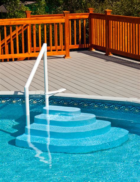 above ground pool steps and ladders