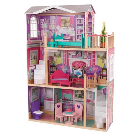 real barbie doll house 18 inch dollhouse doll manor