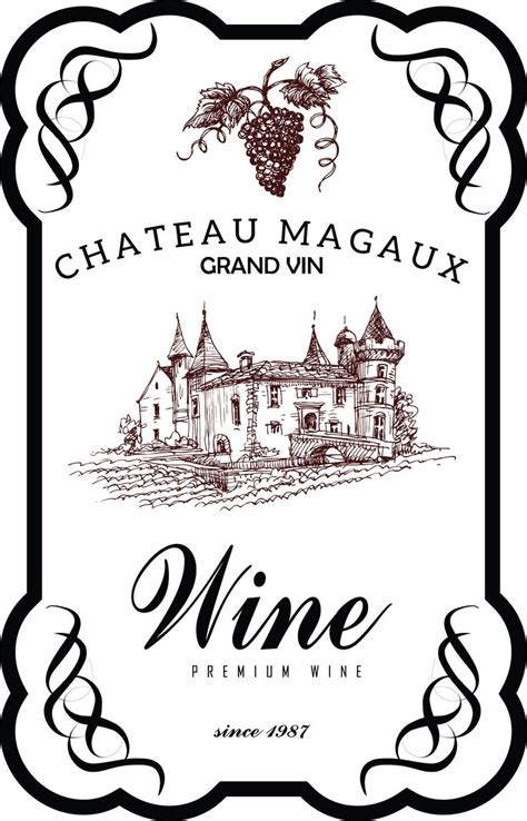 design free wine label my design wine label vintage wine label pinterest