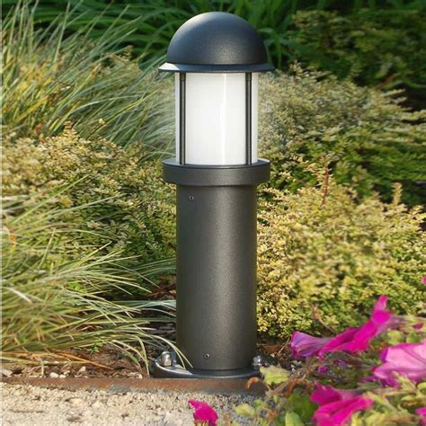 illuminazione da esterno per giardino midos paletto lioncino moderno in alluminio