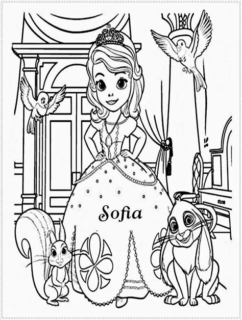 princess sofia coloring page free sofia the first sofia the first and james free colouring pages