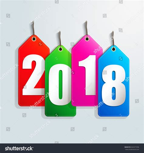 creative happy new year 2018 happy new year 2018 creative greeting stock vector