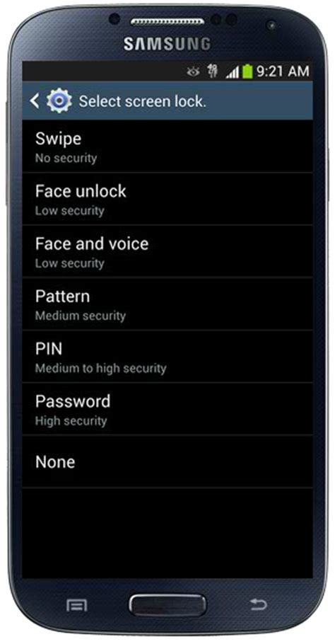 pattern lock disabled by administrator samsung remove swipe screen to unlock galaxy s4 visihow
