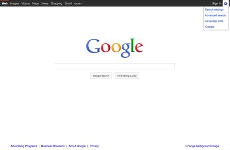 Home Bar Design Books goggle homepage redesign hides advanced search