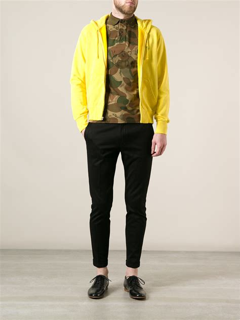 Hoodie Zipper Yellow Claw Leo Cloth polo ralph zip front hoodie in yellow for lyst