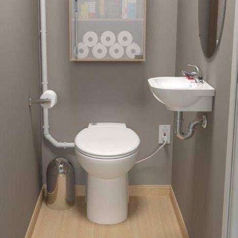 saniflo sanicompact  contained upflush toilet