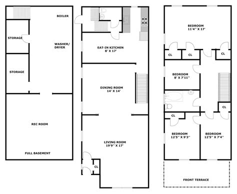 3 floor building plan 2 storey commercial building floor plan modern house
