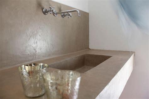 Beton Mineral Dusche by Beton Cire Salle De Bain Mercadier Solutions Pour La