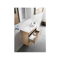 meuble simple vasque debba compact 50cm ch 234 ne 2 tiroirs