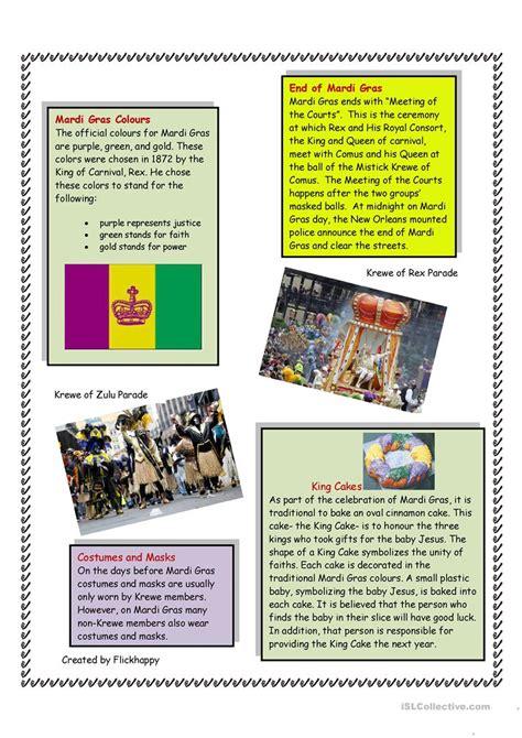 Mardi Gras Worksheets