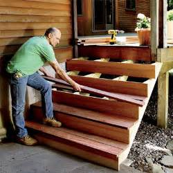How To Make Stairs Out Of Wood by Patio Deck Railing Design How To Build Outdoor Stairs
