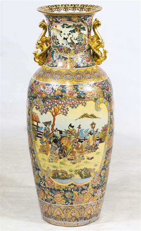 Satsuma Vases Asian Floor Vase Leonard Auction