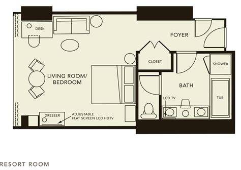 Room Design Floor Plan Typical Hotel Room Floor Plan Click Here For The Resort Room Floorplan Hotel Room Plans