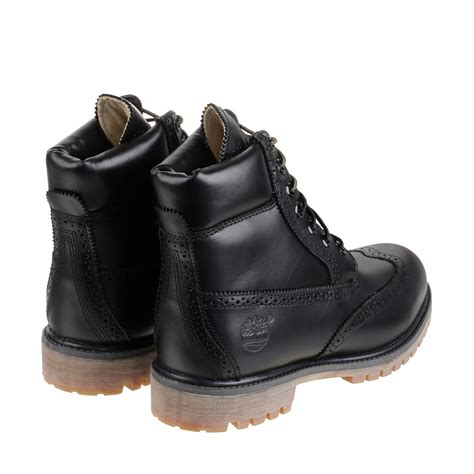 black brogue boots timberland brogue 6 inch premium boot in black for lyst