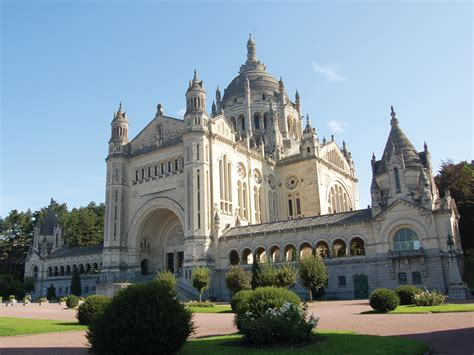st therese basilica lisieux france basilica of st th 233 r 232 se of lisieux in normandy