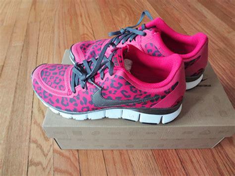 nike free 5 0 fireberry pink leopard print womens 8 sole