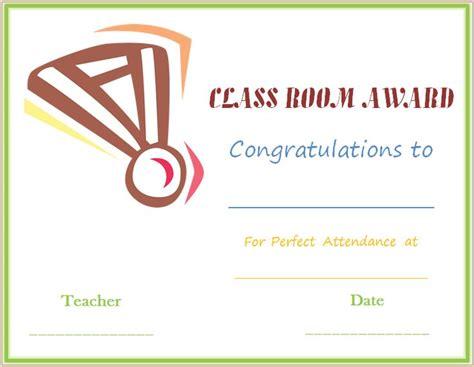 classroom certificates templates classroom attendance award certificate medal design