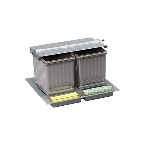 Poubelle De Tiroir poubelle tiroir 3 bacs 27 litres