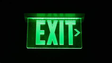 Led Exit Sign why the needs an orderly exit mechanism marketwatch
