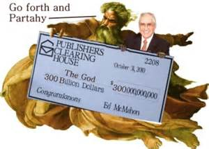 publishers clearing house ed mcmahon if all the gods in history were real present and alive