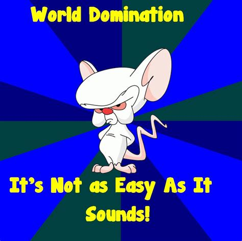 Pinky And The Brain Meme - brain meme world domination tribute to patb by