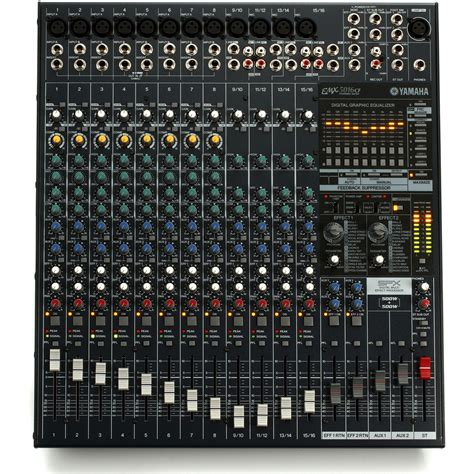 Power Mixer Lifier Yamaha yamaha emx5016cf 500w 500w stereo powered mixer at