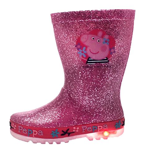 girls light up rain boots kids character flashing light up wellington boots rain