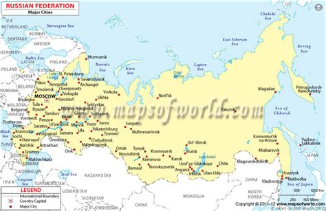 map of russia with cities and countries russia map with cities