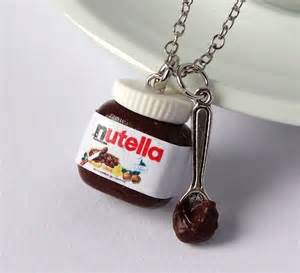 Silver Gift Items Shiny Stuff Creations Kawaii Nutella With Spoon Necklace Noveltystreet