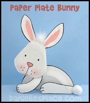 Paper Plate Bunny Craft - easter crafts for