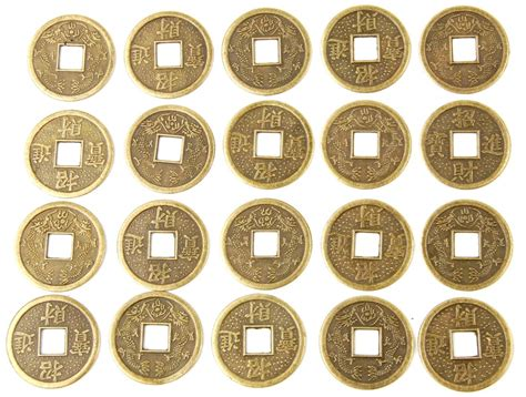 Feng Shui Coins At Front Door Brass Fortune Coin 20 Lot Feng Shui I Ching Wealth 2 2cm Ebay