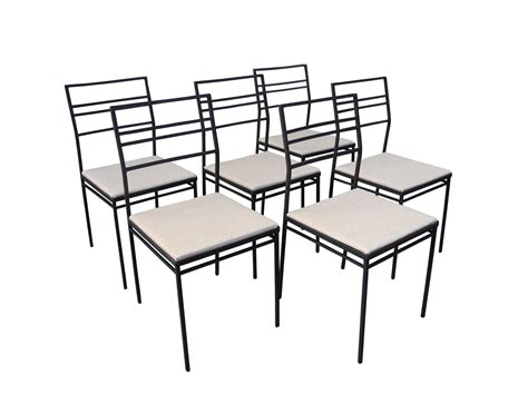 Indoor Outdoor Wrought Iron Dining Set Of Six Chairs And Wrought Iron Dining Table And Chairs