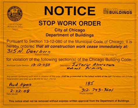 Stop Work Order by Stop Work Order Issued For S Loop North News