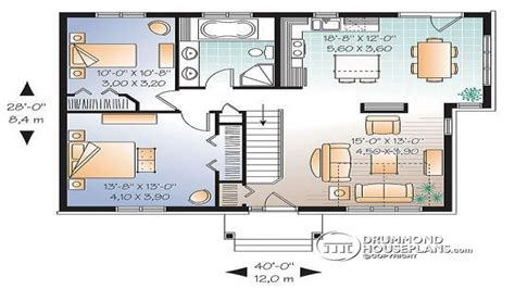 2 bedroom single level house plan split level