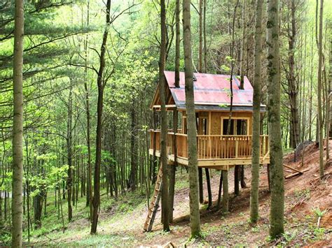 Treehouse Cabins by Small Treehouse Cabin Stuff