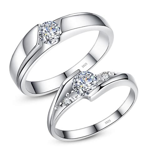 cubic zirconia eternity promise rings for couples