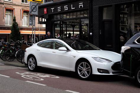Tesla In Amsterdam Tesla Charging Outside The Tesla