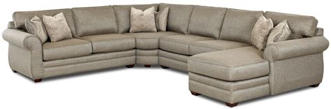 clanton transitional sectional sofa with right chaise by