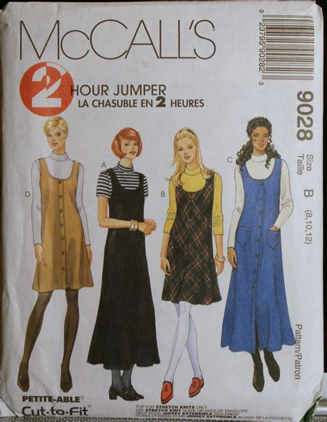 sewing pattern jumper sewing pattern misses jumper and top mccall s 9028 sz 8