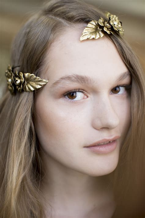 whats trending in hair jewelry metallic floral hair barrettes at rodarte s spring 2016