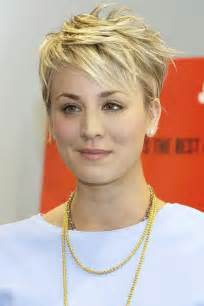 female hair styles for a cut just below the ear our 10 favorite haircuts for spring kaley cuoco pixies
