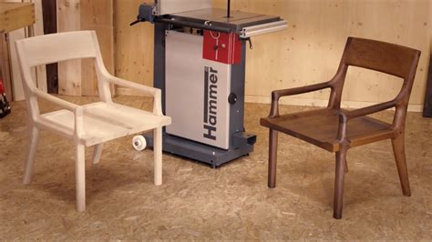 youtuber stuhl diy designer chair made with the hammer 174 n4400 bandsaw