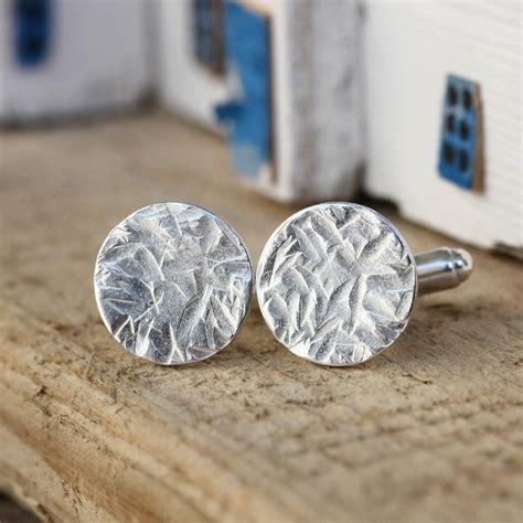 Handmade Cufflinks - handmade silver hammered cufflinks by jemima lumley