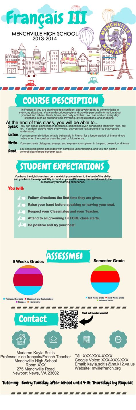And The Most Exciting Syllabus Goes To Creative Language Class Infographic Syllabus Template Free