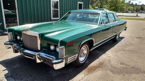 1977 lincoln continental town car classic original green leather garaged 92k classic lincoln