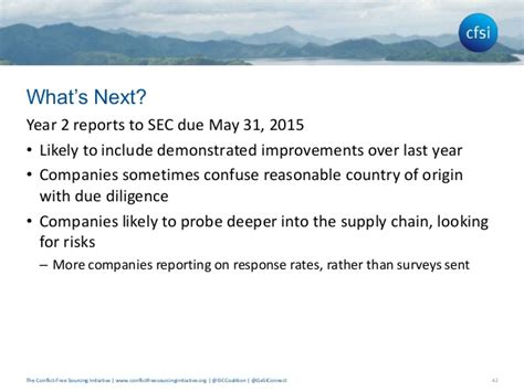 sec section 31 fee cfsi conflict minerals due diligence presentation