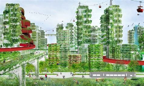 developing households want space and a garden forest cities tree covered architecture to combat